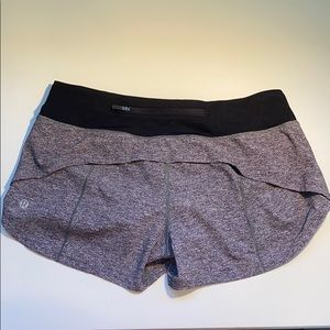 lululemon speed up shorts size 6